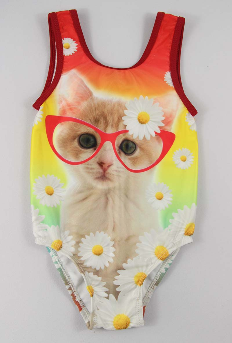 Cute cat girls one piece swimsuits