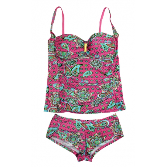 Women's tankini top & bottom  swimwear