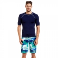Navy men's rash guards sets