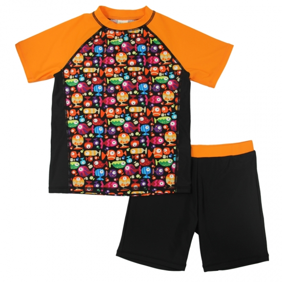 Rash guard tee & swim pants  little boys