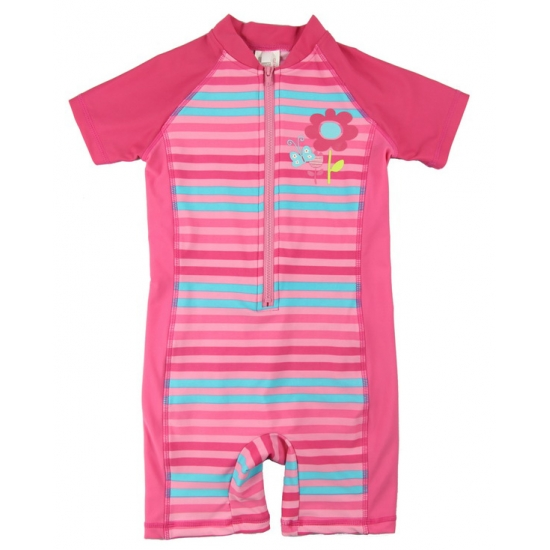 Little girls stripes one piece rashguards