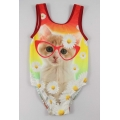 Cat infant girls one piece swimsuits